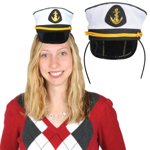 Beistle Nautical Party Yacht Captain's Cap Headband - 12 Pack(1/Pkg)