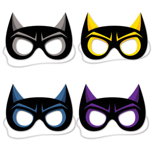 "Hero Masks 8 1/2""- 12 pack(4/Pkg)"