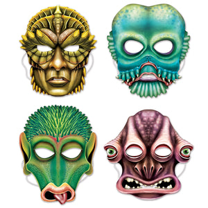 "Alien Masks 11 1/4""-12 1/4""- 12 pack(4/Pkg)"