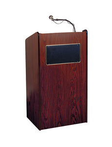The Aristocrat Sound Lectern with Handheld Wireless Mic - Mahogany
