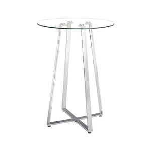 Zuo Lemon Drop Bar Table, Chrome