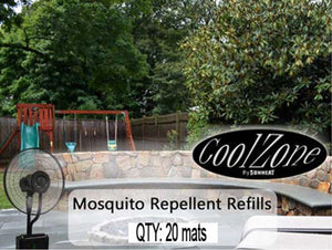 SUNHEAT International20 Pack Mosquito Mats for CZ500 Ultrasonic Dry Misting Fan