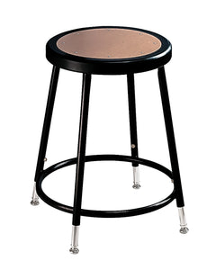 National Public Seating Adjustable Steel Stool - 19-27in.H, Black, Model# 6218H-10