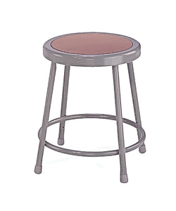 "National Public Seating Grey Steel Stool With 30"" Hardboard Seat"