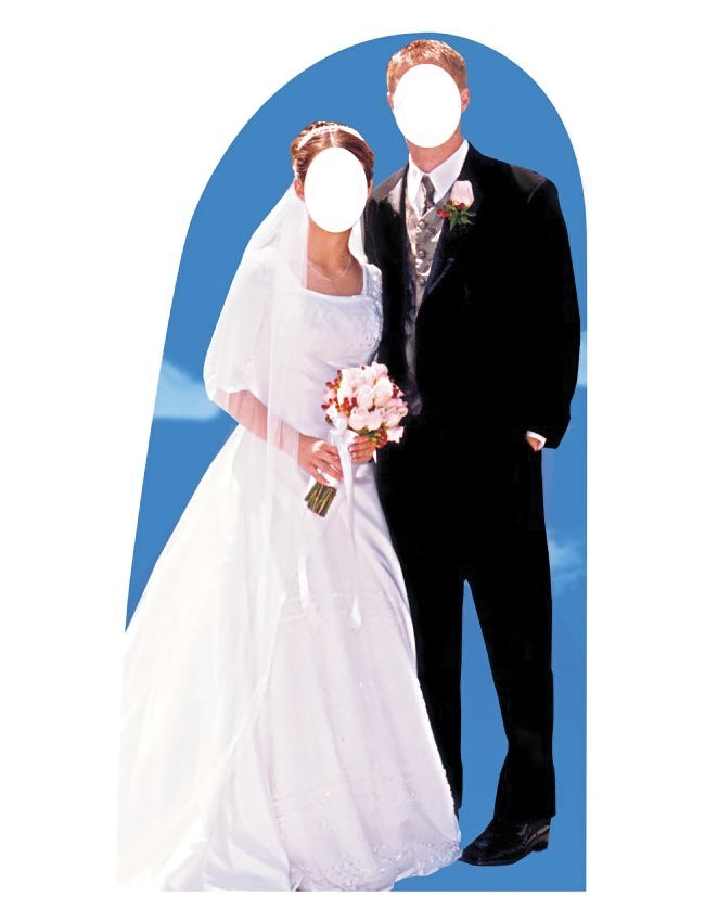 Bride and Groom Stand-In Standup Cardboard Cutout