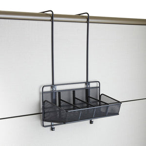 Safco Products 6454BL Onyx Mesh Panel Organizer Supplies, 4 Pocket, Black
