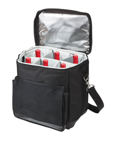 Picnic Time Cellar Insulated 6-bottle Wine Tote - Black