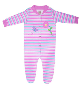 Funkoos Organic Flower Sleepsuit (Flower and Butterfly)