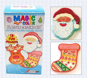 Sandtastik Magic Color Plaster Casting Kit - Christmas Holiday