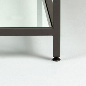 Camber Console Table Pewter - Clear Glass