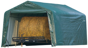Agro Storage Shelter 12 x 20 x 8 ft. Green