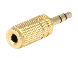 Monoprice Metal 3.5 mm Stereo Plug to 3.5 mm Mono Jack Adaptor - Gold Plated