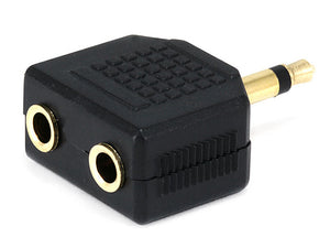 Monoprice 3.5mm Mono Plug to 2 x 3.5mm Stereo Jack Splitter Adaptor - Gold Plated