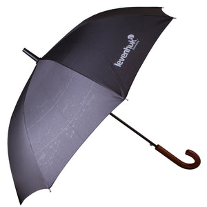 Levenhuk Star Sky Z10 Auto Open Stick Umbrella With an Astronomy Print and Wooden Handle