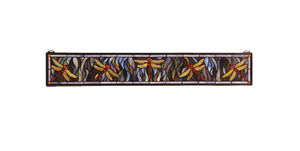 "Meyda Tiffany 72896 Tiffany Dragonfly Stained Glass Window, 40"" Width x 6"" Height"