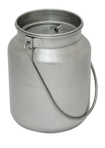 Lindy's Gallon Stainless Steel metal jug, 1 gallon, Silver
