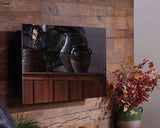 Mirror Onyxz Touchstone's Electric Fireplace with Heat with Mirror Glass