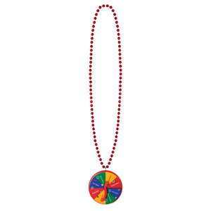 "Beistle 40"" Beads with New Year Spinner Medallion - 12 Pack (1/Card)"