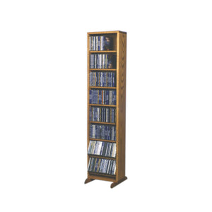 Cdracks Media Furniture Solid Oak Dowel Cabinet for CD Capacity 208 CD's Honey Finish