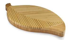Picnic Time Leaf Bamboo Cheese Board and Tool Set