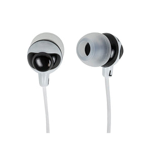 Button Design Noise Isolating Earphones - Black & White