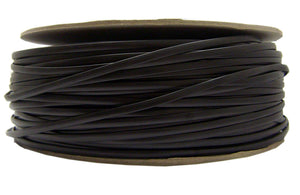 Bulk Flat Phone Cord, Black, 26/4 (26 AWG 4 Conductor), Spool, 1000 Foot