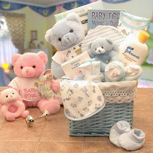 Sweet Baby of Mine New Baby Basket -Blue