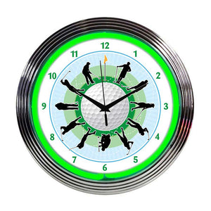 Neonetics Golf Neon Wall Clock, 15-Inch