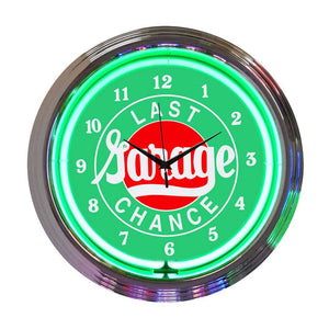 Neonetics Cars and Motorcycles Garage Neon Wall Clock, 15""