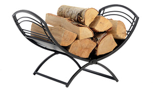 Fireplace Classic Log Holder Black