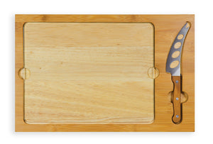 Picnic Time Icon Cutting Board with Removable Serving Tray - Wood