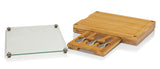 TOSCANA - a Picnic Time Brand Concerto 5-Piece Cheese Board Serving Set