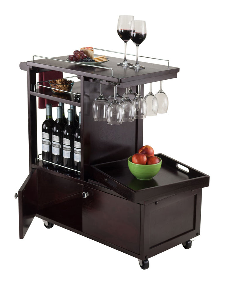 Winsome Wood Galen Entertainment Cart