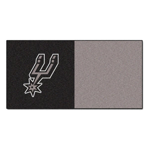 FANMATS NBA San Antonio Spurs Nylon Face Team Carpet Tiles