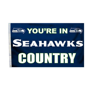Seattle Seahawks Country 3 Ft. X 5 Ft. Flag W/Grommetts