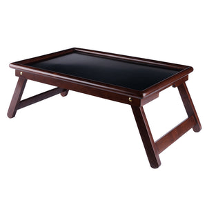 Winsome Wood Ambra Bed Tray, Walnut/Black