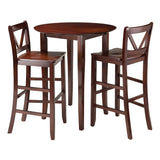 Winsome Piece Fiona Back stool, Brown