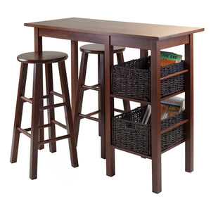 Egan 5pc Breakfast Table with 2 Baskets and 2 Stools