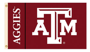 BSI Indoor Outdoor Sports Banner Texas A&M Aggies Team Logo 3 Ft. X 5 Ft. Flag With Grommets 95130