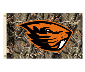 NCAA Oregon State Beavers Flag With Grommets Realtree Camo Background 60 x 36in
