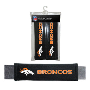 Denver Broncos Seat Belt Pad 2 Pack