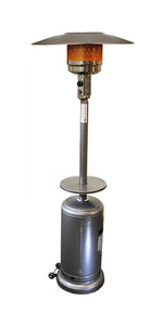 Sunheat Tall Silver Hammered Propane Patio Heater with Table