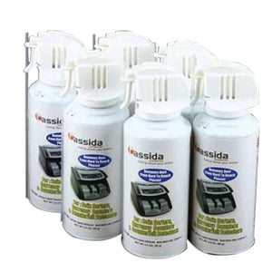 Cassida Cleanpro Air Duster For Currency Counters 3.5 Oz Can, (6 Pack)