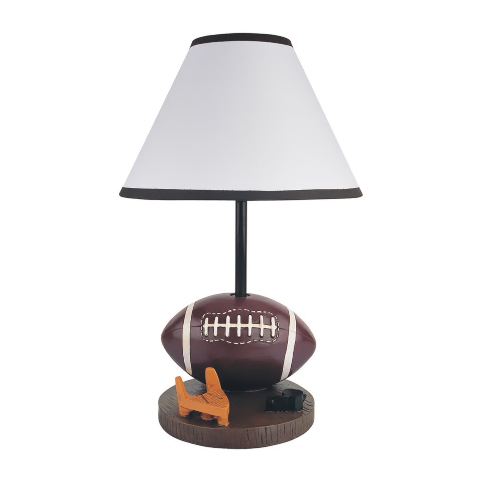 Milton Greens Stars Antique Resin Youth Football Table Lamp, 15.75-Inch