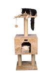 Armarkat 42-Inch Wooden Step Cat Tower Tree Condo Scratcher Kitten House - Beige