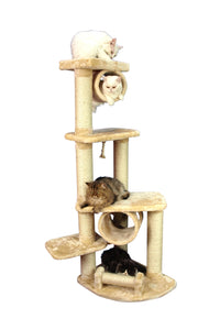 Armarkat A7463 Wooden Step Classic Cat Tower Tree Condo Scratcher Kitten House - Beige