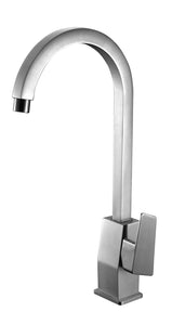 ALFI brand AB3470-BN Brushed Nickel Gooseneck Single Hole Bathroom Faucet