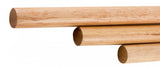 "ALFI brand AB5506 16"" Triple Rack Wooden Towel Bar Bathroom Accessory, Natural Wood"