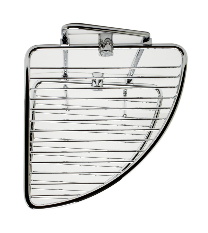 ALFI brand AB9532 Corner Mounted Double Basket Shower Shelf Bathroom Accessory, Polished Chrome