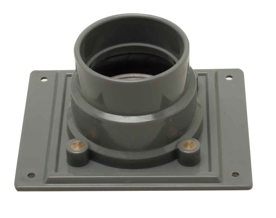 ALFI brand ABDB55 PVC Shower Drain Base with Rubber Fitting